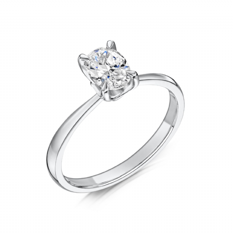 0.5 Carat GIA GVS Diamond solitaire Platinum. Oval diamond Engagement Ring, MPSS-1176/050